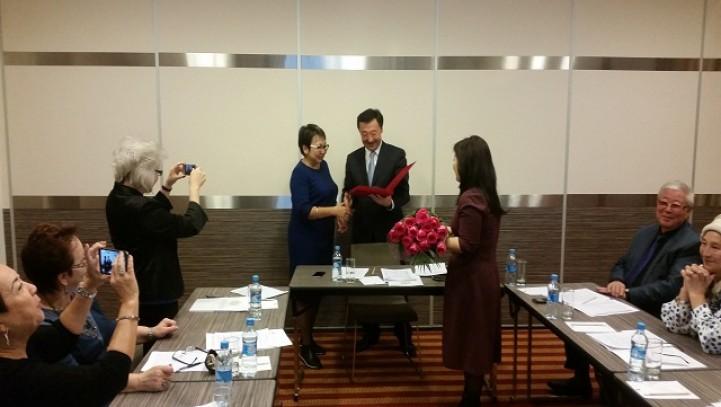 Адвокаты АГКА Байгазина Г.Б. и Мусин С.А. удостоены почетного звания «Адвокатураға еңбегі сіңген қайраткер»